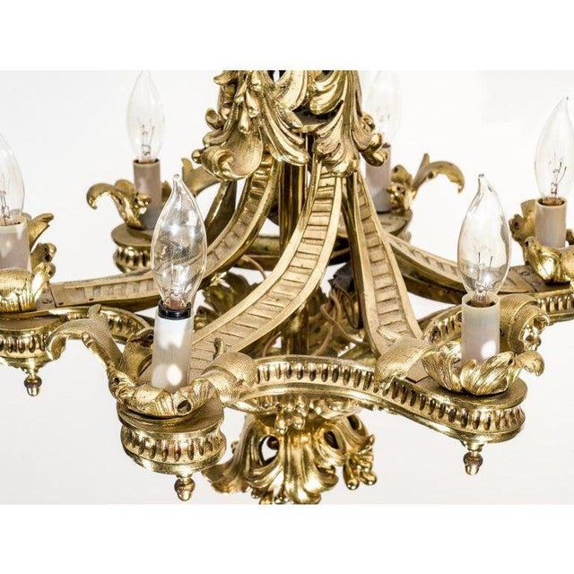 Metal English Gothic Revival Bronze Chandelier For Sale - Image 7 of 13