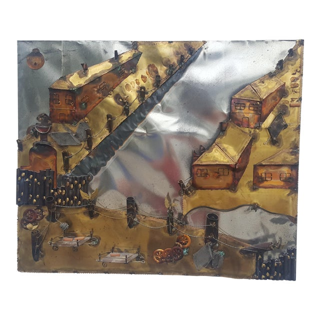 Curtis Jere Style Landscape Abstract Wall Sculpture . - Image 1 of 11