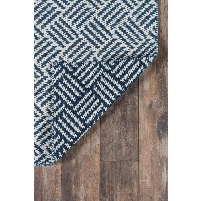 """2010s Madcap Cottage Baileys Beach Beach Club Navy Indoor/OutdoorArea Rug 3'6"""" X 5'6"""" For Sale - Image 5 of 7"""