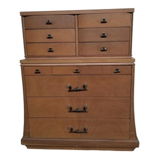 1940s Vintage Sieling Art Deco Style Highboy For Sale
