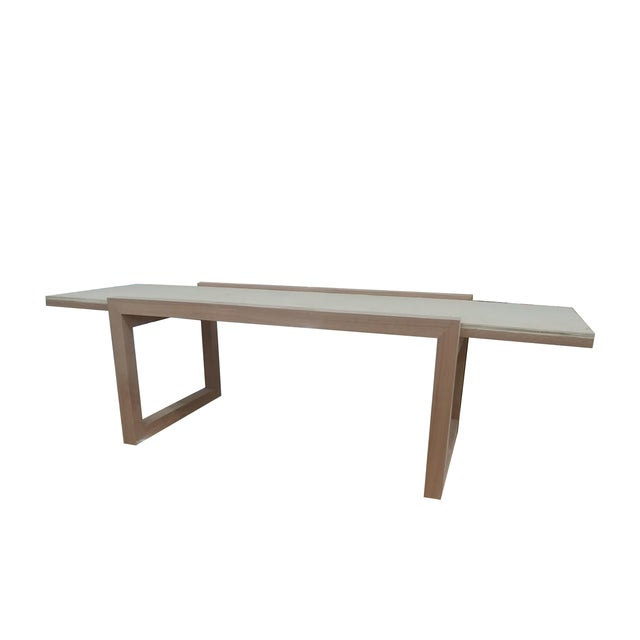 """Modern The Hide's """"The Darby"""" Long Bench in Leather For Sale - Image 3 of 4"""