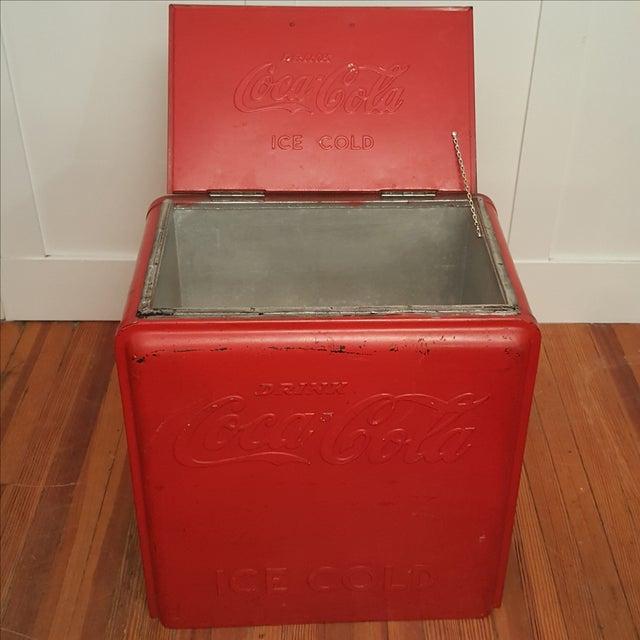 Vintage Coca Cola Ice Chest, Circa 1930's - Image 3 of 9