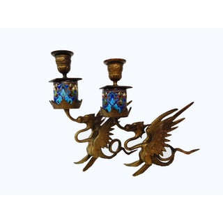 French Gothic Gargoyle Candle Holders - A Pair Preview