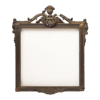 Antique Distressed Picture Frame For Sale