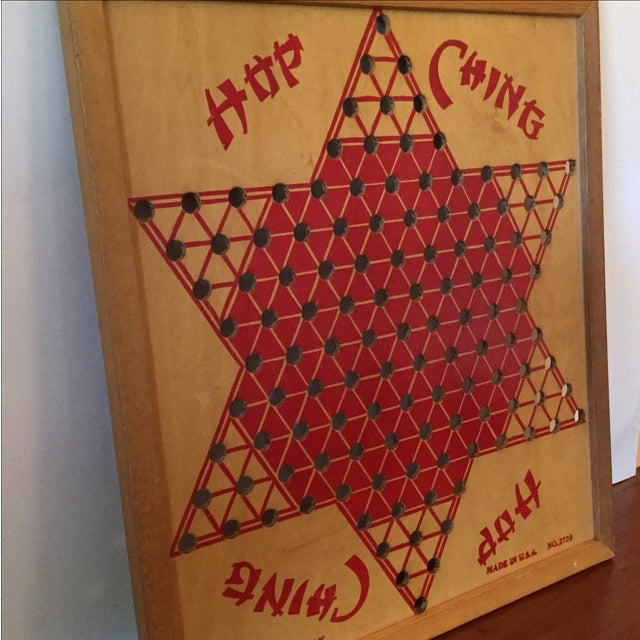 Vintage Wooden Chinese Checkers Board - Image 3 of 11