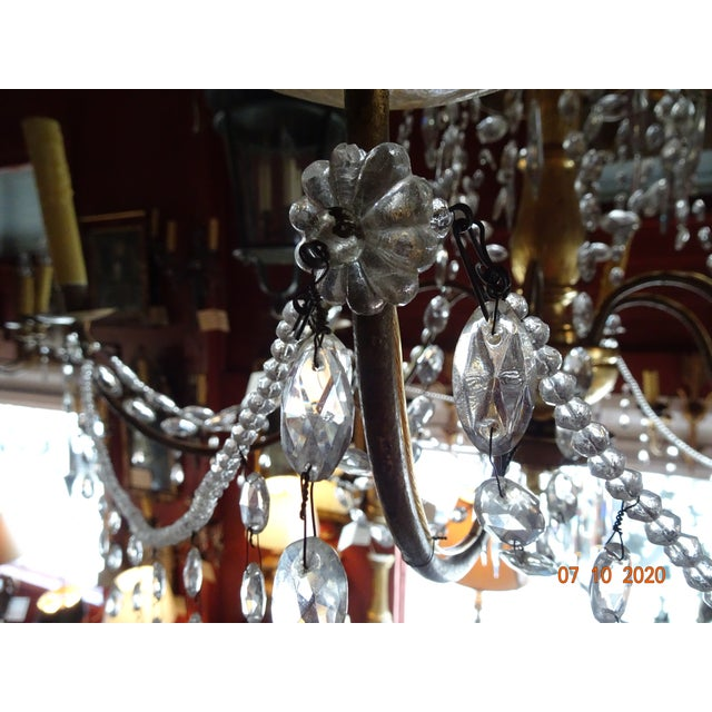 19th Century Italian Crystal Chandelier For Sale - Image 10 of 13