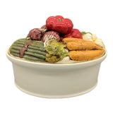 Image of Late 20th Century Trompe l'Oeil Vegetable Casserole Serving Dish For Sale