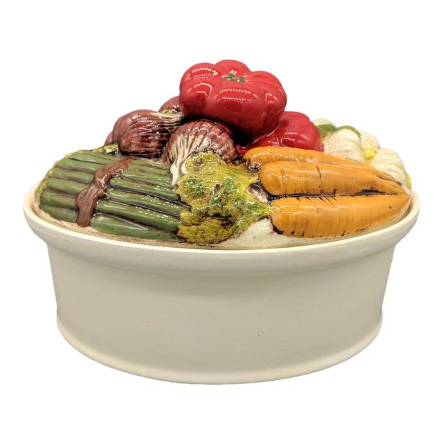 Late 20th Century Trompe l'Oeil Vegetable Casserole Serving Dish For Sale