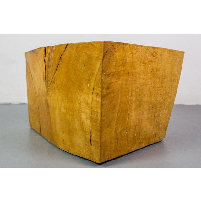 Mid-Century Modern Huge Solid American Studio Coffee Table or Stool by Howard Werner For Sale - Image 3 of 8