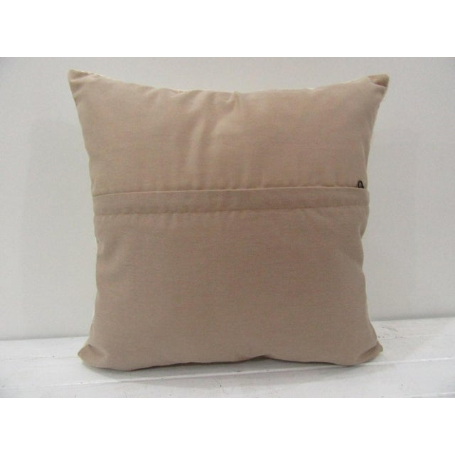 Contemporary Handmade Vintage Turkish Kilim Pillow Cover For Sale - Image 3 of 4