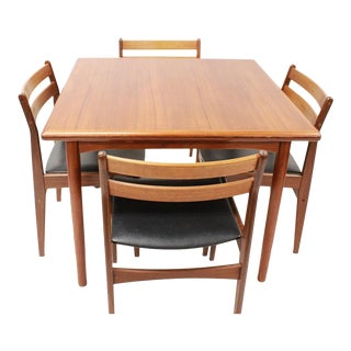Mid Century Modern Frem Rojle Dining Set Table and 4 Chairs | For Sale