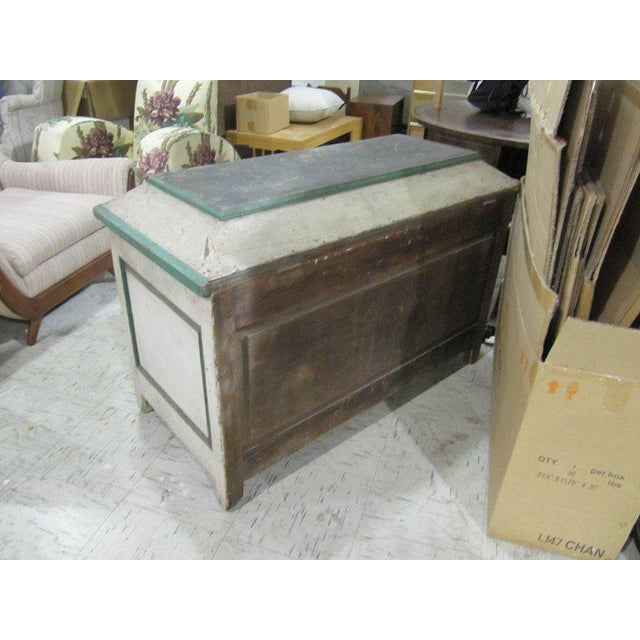 Handsome American Primative Blanket Chest With Wonderful Worn Painted Finish For Sale - Image 5 of 6