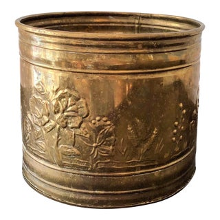 17th Century Dutch Baroque Brass Cachepot For Sale