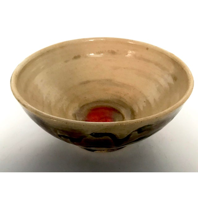 Studio Pottery Drip Glaze and Oxblood Bowl Signed For Sale - Image 11 of 11