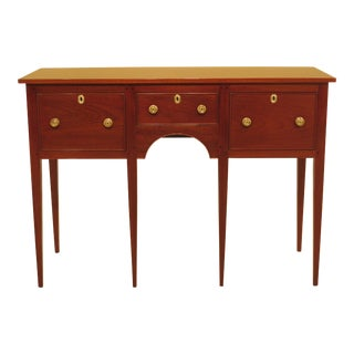 1950s Neoclassical Kittinger 3 Drawer Mahogany Sideboard For Sale