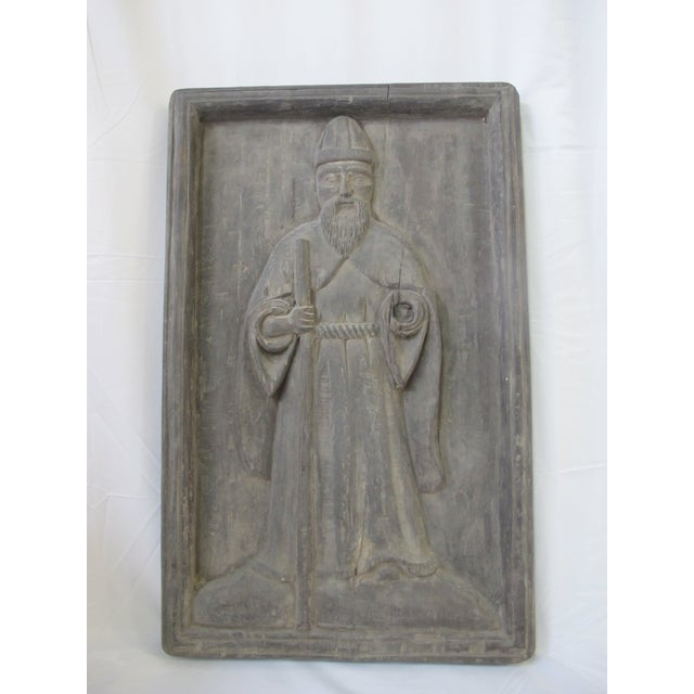 Late 19th Century Spanish Colonial Robed Saint Spiritual Religious Panel For Sale In Portland, OR - Image 6 of 6