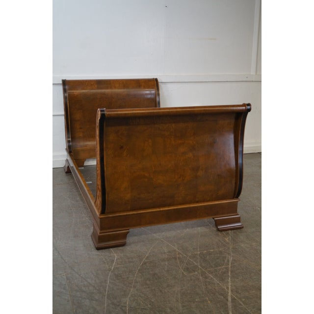 Henredon Henredon Charles X Burl Wood Sleigh Day Bed For Sale - Image 4 of 8