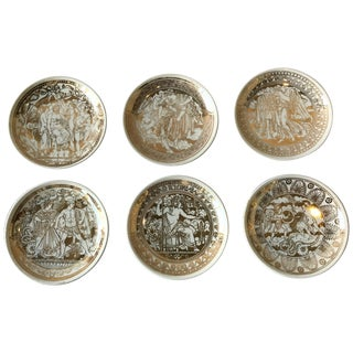 1950s Fornasetti Mitologia, Set of 6 Coasters For Sale