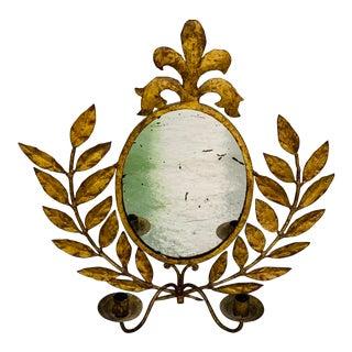 Italian Gilt Tole Mirror Sconce For Sale