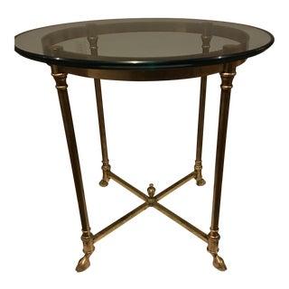 Vintage Maison Jansen Brass Side Table