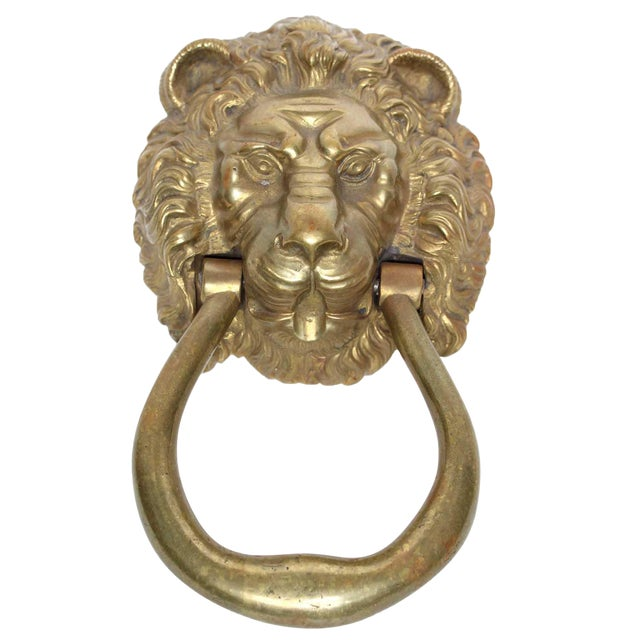 Lion Head Door Knocker - Image 1 of 3