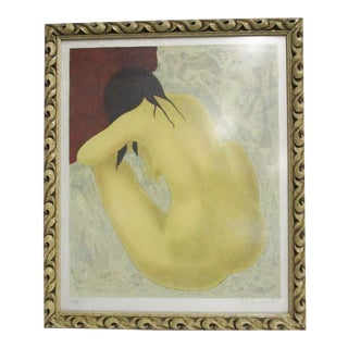 La Femme Mid Century Nude Signed Lithograph For Sale