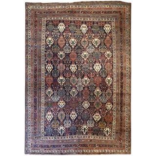 Antique Persian Bakhtiar Rug