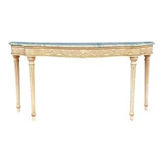 Maison Jansen Painted Serpentine Console Table For Sale