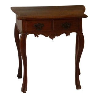 Small Portuguese Chestnut Console For Sale