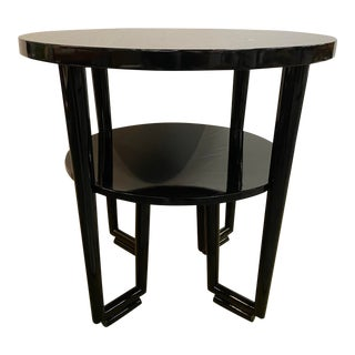 1960's Newly Lacquered Mahogany Accent Table, James Mont For Sale