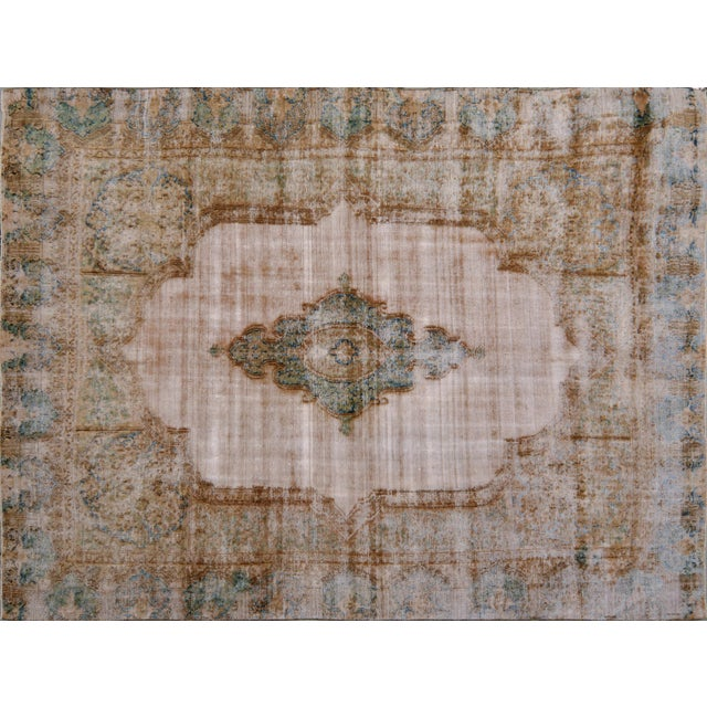 Vintage Kerman Rug - 9' x 12′ For Sale In New York - Image 6 of 6