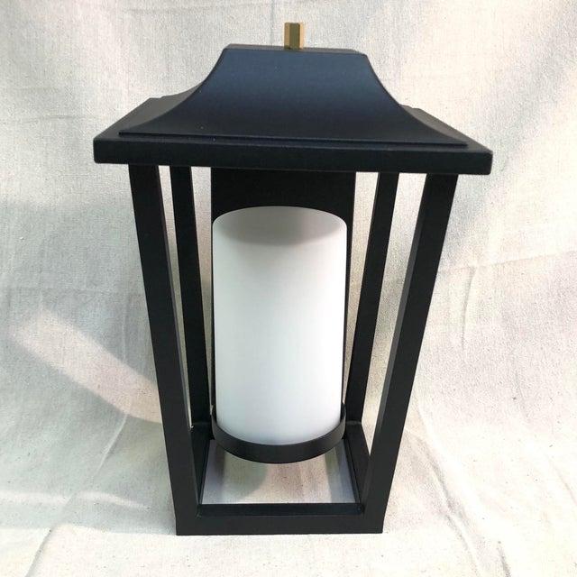 Modern Hinkley Lighting Sullivan Outdoor Black Lantern Wall Sconce For Sale - Image 3 of 13