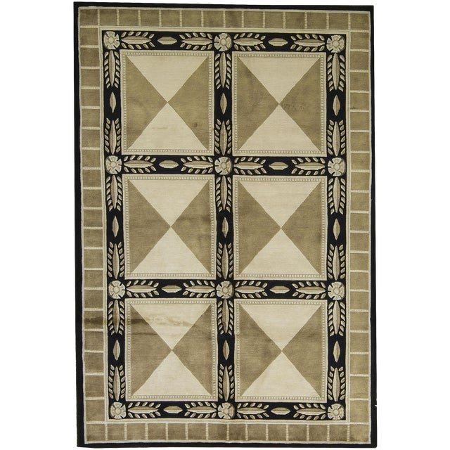 "Contemporary Hand-Woven Rug - 6'2"" x 9' - Image 1 of 3"