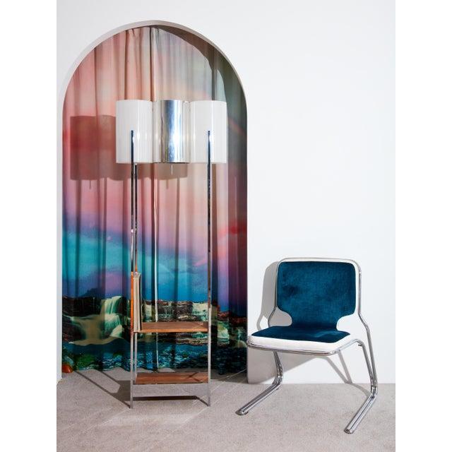 Paul Mayen Vintage 1970s Chrome Floor Lamp with Shelves For Sale - Image 4 of 5