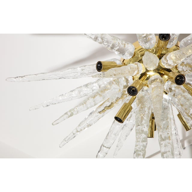 1970s Stalactite Murano Glass Ceiling Light For Sale - Image 4 of 9