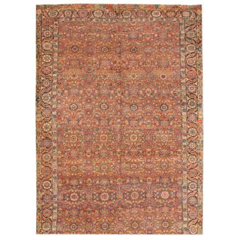 Antique 19th Century Persian Souj Boulak Gallery Carpet For Sale