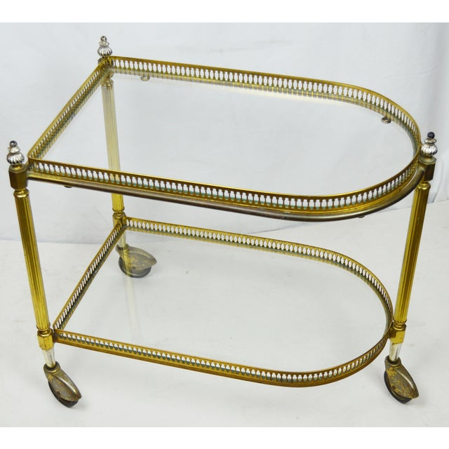 French 2 Tier Bar Cart - Image 3 of 3