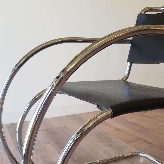 Metal Ludwig Mies Van Der Rhoe 1970s Mr 20 Chair - Attributed For Sale - Image 7 of 13
