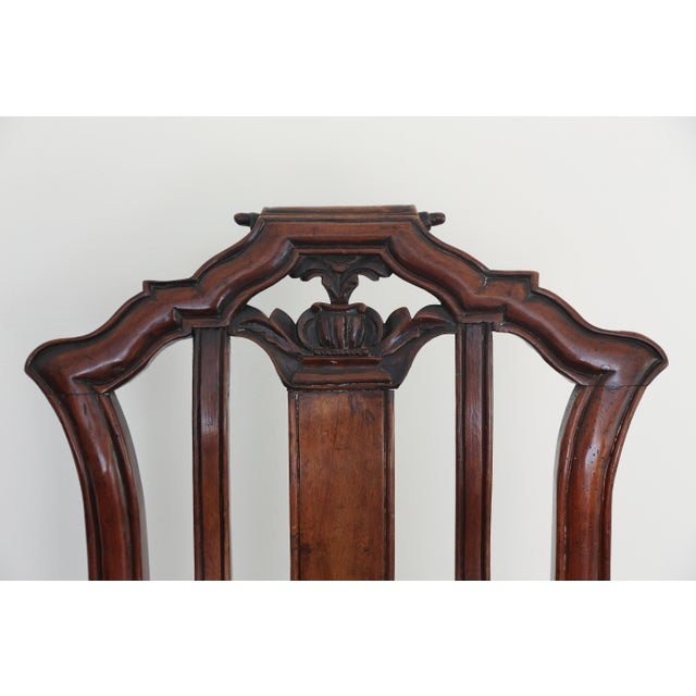 Anglo Dutch Walnut Chairs - A Pair For Sale - Image 5 of 9