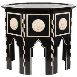Tangier Side Table With Faux Ivory For Sale