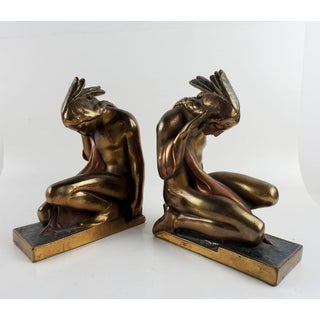 Pompeian Bronze Native American Bookends Preview