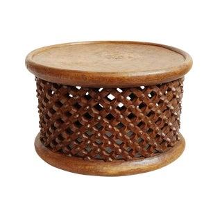 Bamileke Wood Stool Table For Sale