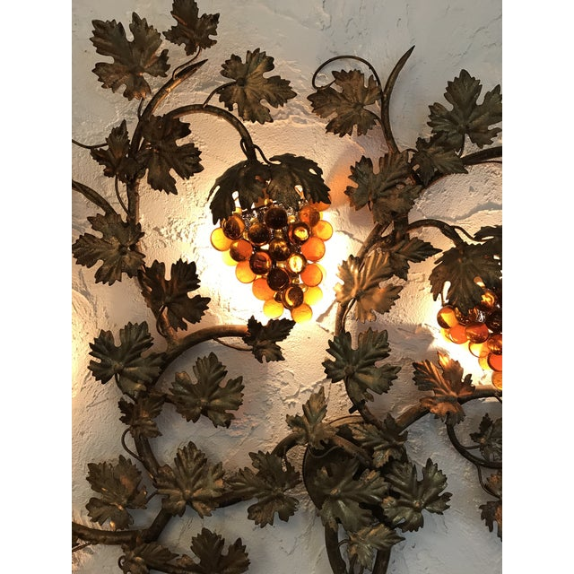 Vintage Murano Grape Cluster Light For Sale - Image 5 of 10
