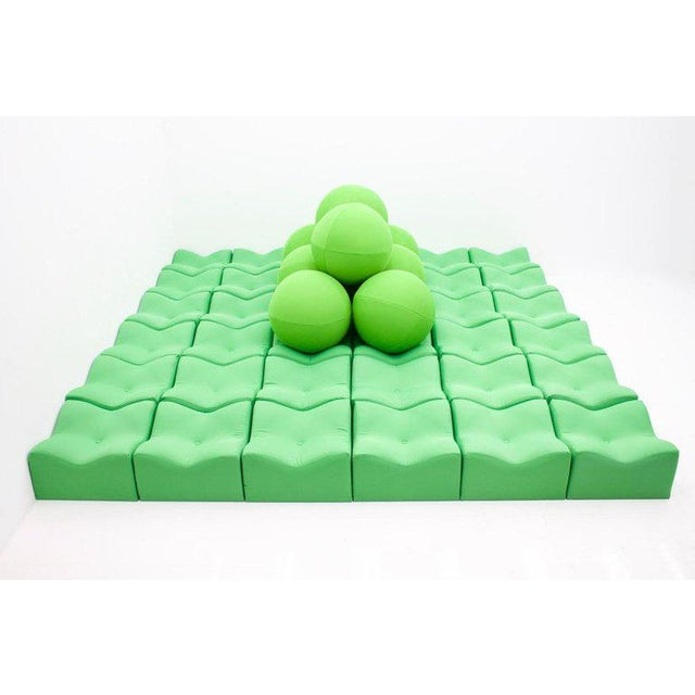 Green Ultra Rare Seating Area by Ronald Koop Germany, 1973 For Sale - Image 8 of 10