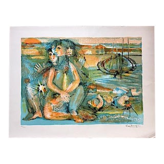 Mid Century Lithograph by Jean Camberoque