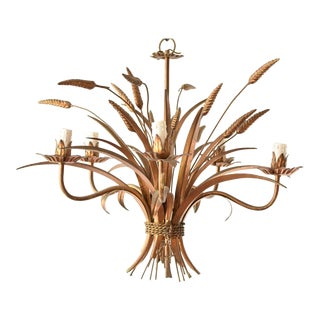 Mid 20th Century Wheat Sheaf Chandelier For Sale
