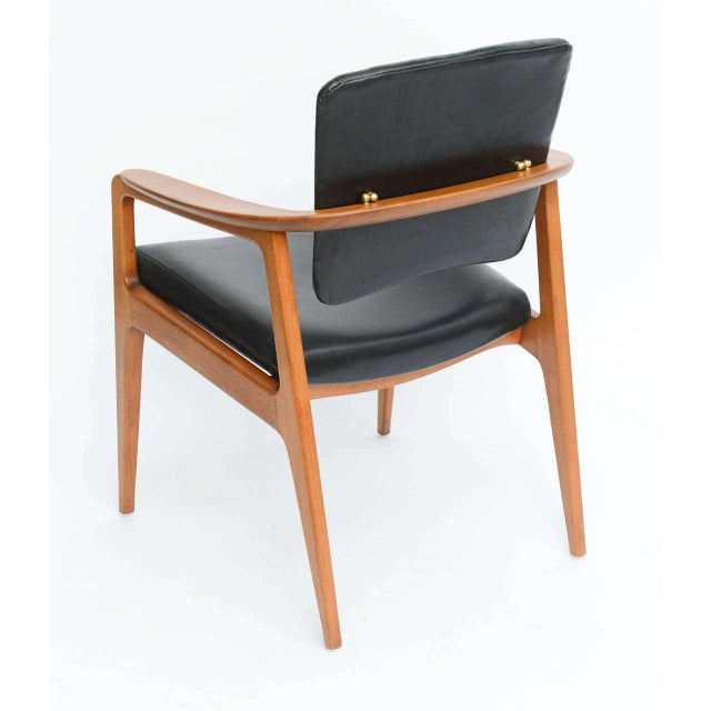 Sigvard Bernadotte for France & Daverkosen Danish Modern Teak Lounge Armchair - Image 10 of 11