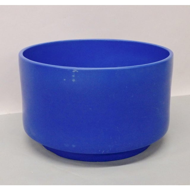Ceramic Rare Large Size Blue Glaze Gainey California Planter Pot For Sale - Image 7 of 9