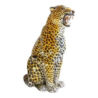 Italian Terra-Cotta Leopard Statue