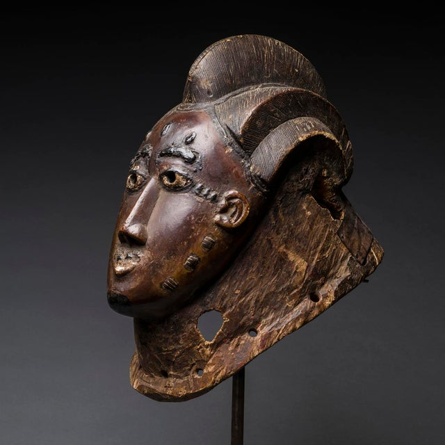 African Southern Guro Wooden Mask For Sale - Image 3 of 5